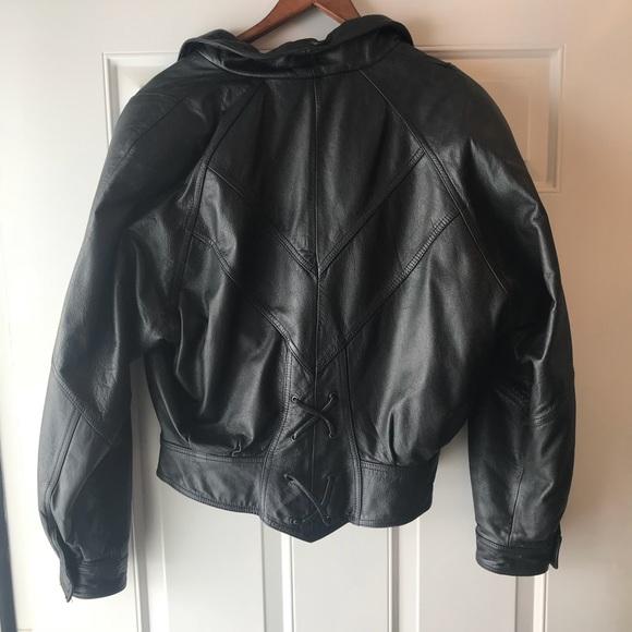 Vintage leather jacket 90s